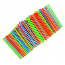 "Spoon Drinking Plastic Straws Assorted Colors 7-3/4"" 10000ct"